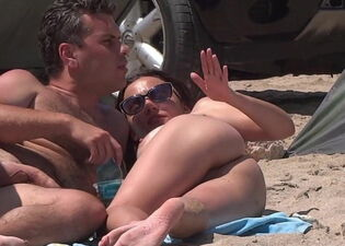 Wife beach naked