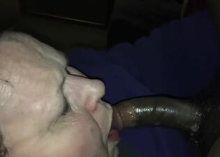 Granny sloppy blowjob
